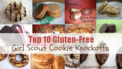 Top 10 Gluten-Free Homemade Girl Scout Cookie Recipes! For real! You are going love these ways to get your safe, gluten-free Girl Scout Cookie fix!