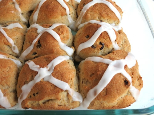 These Gluten-Free Hot Cross Buns win on taste and looks!