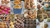 gluten free, dairy free, egg free, refined sugar free, hot cross buns, recipe, Easter, bread,