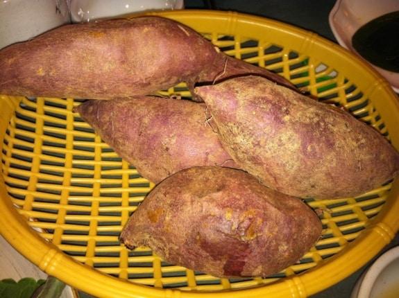 gluten free, steamed Korean sweet potatoes, Korea, trip report, Angela Sommers, gluten free easily