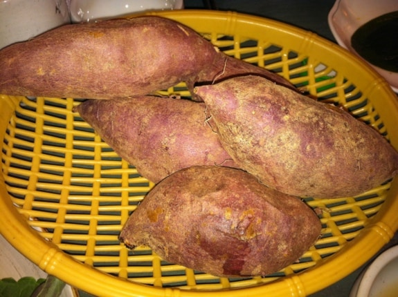 gluten free, steamed Korean sweet potatoes, Korea, trip report, Angela Sommers, gluten free easily