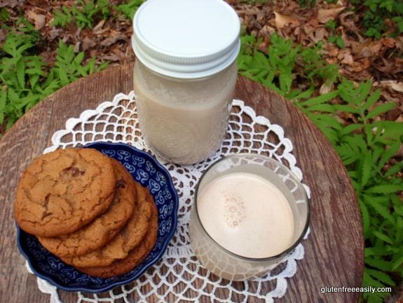 gluten free, dairy free, almond milk, beverage, almond butter, how to make almond milk, Shirley Braden, gluten free easily