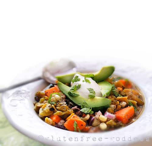Roasted Hatch Chile Stew from Gluten-Free Goddess