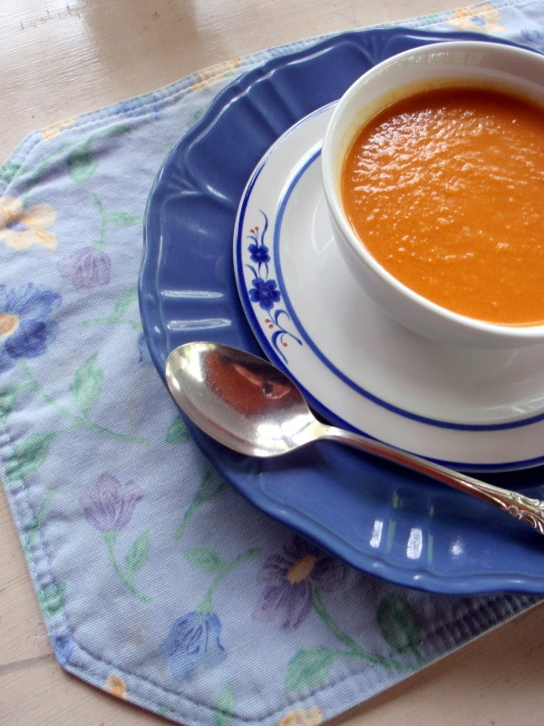 Roasted Veggie Soup from Gluten Free Easily