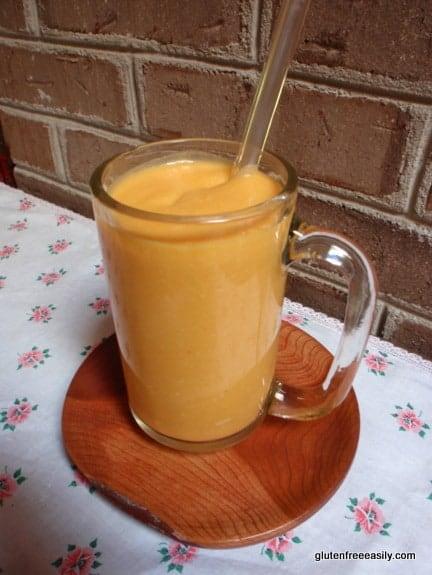 gluten free, dairy free, refined sugar free, sugar free, smoothie, oranges, pumpkin, sweet potato, mango, beverage, recipe, gluten free easily, glass straw