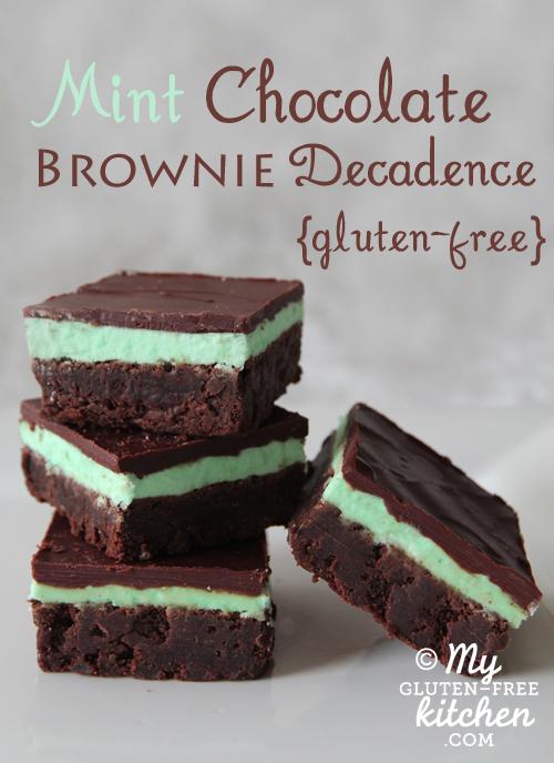 Mint Chocolate Brownie Decadence from My Gluten-Free Kitchen