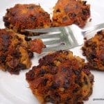 These naturally gluten-free Four-Ingredient Roasted Black Bean Sweet Potato Cakes melt in your mouth and yet are crunchy at the same time. They're addictive! Grain free and vegan. [from GlutenFreeEasily.com]