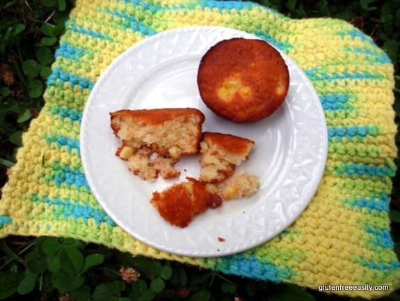 corn muffins, gluten free, corn-free corn muffins, muffins, recipe, corn reactions, Shirley Braden, gluten free easily,