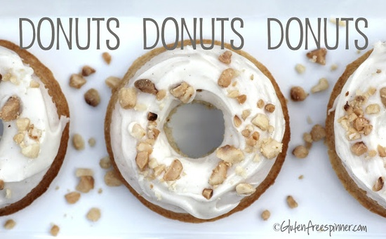 Gluten-Free Baked Donuts with Vanilla Bean and Macadamia Nuts