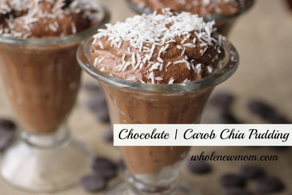 Rich Chocolate or Carob Chia Pudding from Whole New Mom [featured on AllGlutenFreeDesserts.com]