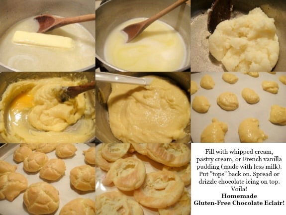 Elegant and Easy Party Puffs Step-by-Step Photo Tutorial. So easy to turn them into Homemade Gluten-Free Chocolate Eclairs! (photo)