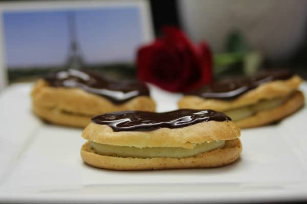 Gluten-Free and Paleo Chocolate Eclairs from The Paleo Mom. One of several fabulous homemade gluten-free chocolate eclair recipes. [featured on GlutenFreeEasily.com]