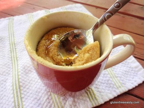 mug pancake, gluten free mug pancake, gluten free, recipe, breakfast