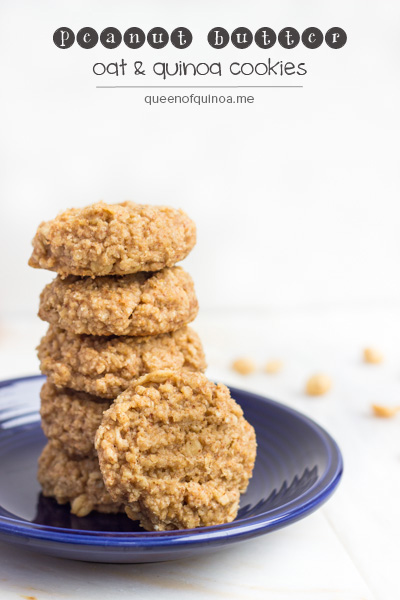 best gluten-free dessert recipes, peanut butter cookies, peanut butter oat cookies, peanut butter quinoa cookies, dessert, recipe, cookies, Alyssa Rimmer, Queen of Quinoa, gluten-free dessert recipes, all gluten-free desserts, free gluten-free dessert recipes