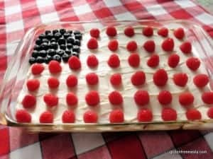 Flourless Chocolate Quinoa Cake Surprises and Delights Everyone! Easy to make it a perfect dessert for a patriotic holiday! (photo)