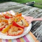 Stuffed Mini Sweet Bell Peppers Hot Off the Grill. [from GlutenFreeEasily.com]