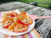 stuffed peppers, mini sweet bell peppers, quinoa-stuffed peppers, camping