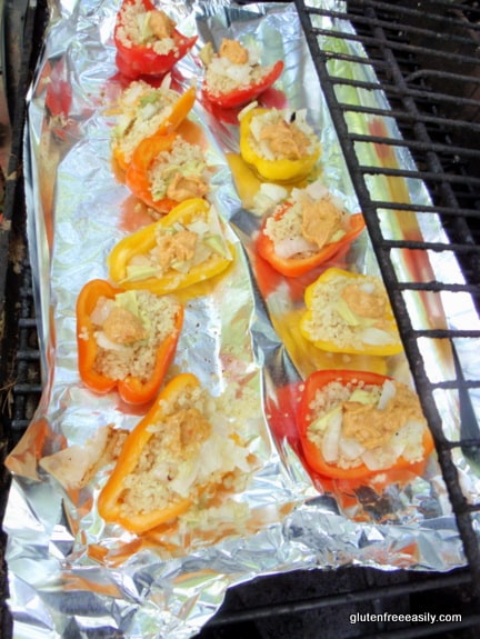 Mini Sweet Bell Peppers Stuffed and Ready to Grill