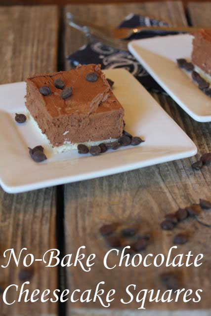 No-Bake Chocolate Cheesecake Squares from Lynn's Kitchen Adventures