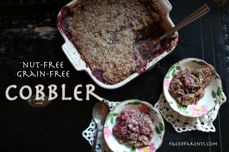 Paleo, Nut-Free Fruit Cobbler