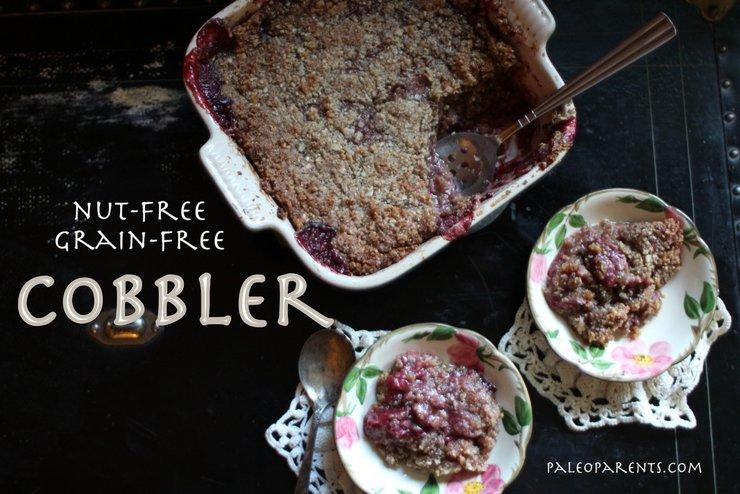 Paleo, Nut-Free Fruit Cobbler