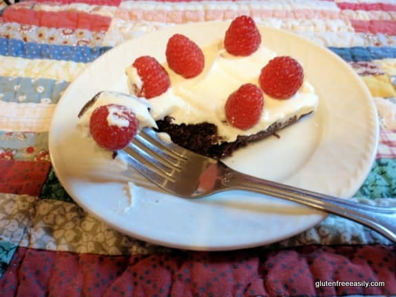 Flourless Chocolate Quinoa Cake Surprises and Delights Everyone! Easy to make it a perfect dessert for a patriotic holiday! Photo.