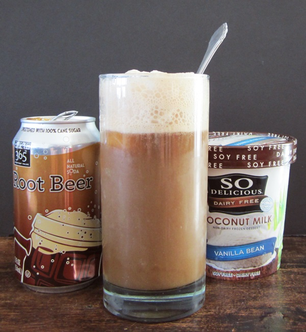 Dairy-Free Root Beer Floats from Go Dairy Free [featured on AllGlutenFreeDesserts.com]