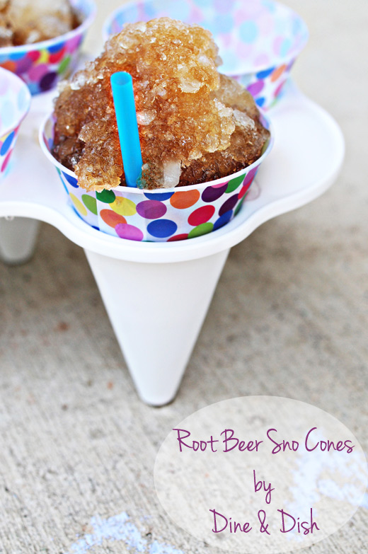 Gluten-Free Root Beer Sno Cones from Dine and Dish [Featured on AllGlutenFreeDesserts.com]