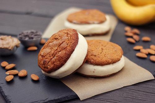 Grain-Free Chocolate Chip Cookies Banana Ice Cream Sandwiches Tasty Yummies