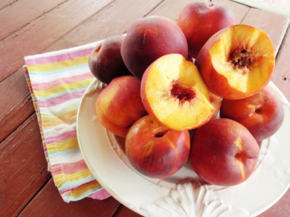 Peaches for Easy Crustless Peach Pie [from GlutenFreeEasily.com]