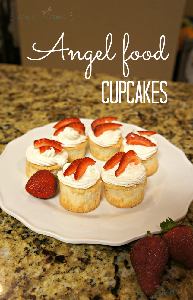 Angel Food Cupcakes from Easy Green Mom