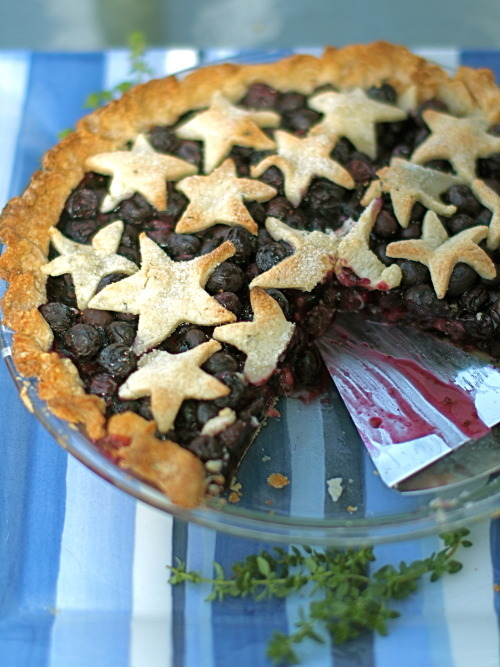 Blueberry Pie with Lemon Thyme Crust
