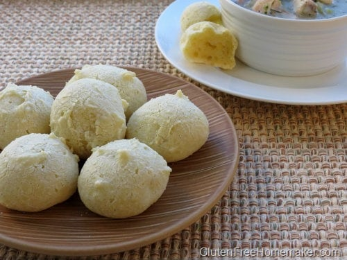 Bread Balls from The Gluten-Free Homemaker [featured on GlutenFreeEasily.com]