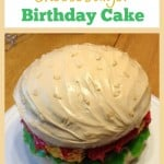 Gluten-Free Cheeseburger Birthday Cake