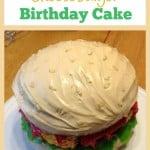Cheeseburger Birthday Cake