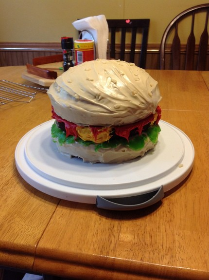Sensational Gluten Free Cheeseburger Birthday Cake Funny Birthday Cards Online Inifofree Goldxyz