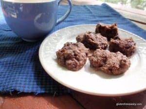 gluten-free chocoate cookies, gluten-free banana cookies, gluten-free truffles, cookies, gluten free, grain free, egg free, dairy free, vegan, dessert,
