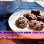 Double Chocolate Banana Truffle Cookie Bites