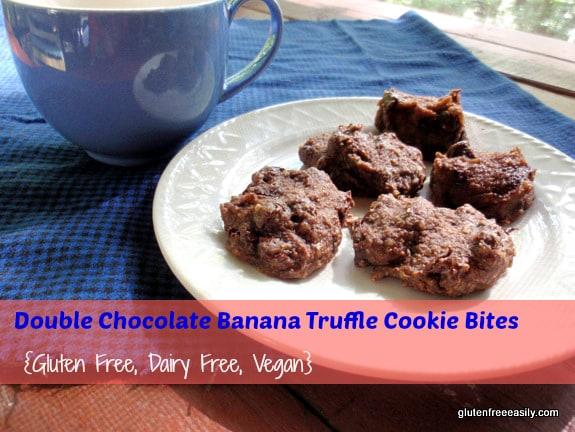 Double- Chocolate Banana Truffle Cookie Bites-Close-up Gluten-Free-Easily
