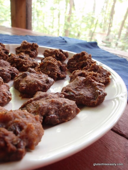 Double Chocolate Banana Truffle Cookie Bites from Gluten Free Easily