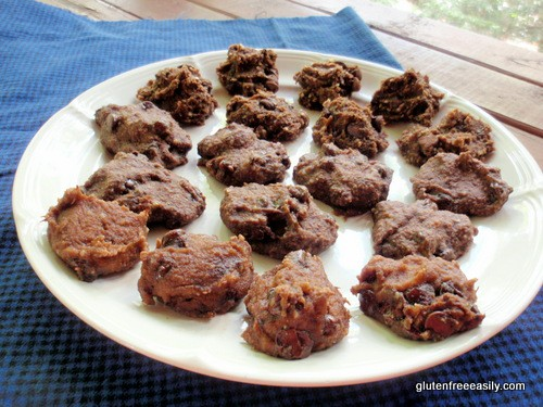 Double Chocolate Banana Truffle Cookie Bites--Made with Quinoa Flakes, or Oat Flour, or Almond Flour Gluten Free Easily
