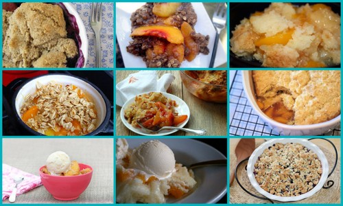 So many gluten-free peach dessert recipes, including these delicious gluten-free peach cobbler, crisp, and crumble recipes!