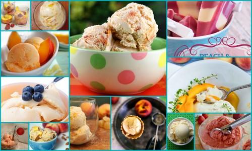 So many gluten-free peach dessert recipes, including these delicious gluten-free peach ice cream, sorbet, and sherbet recipes!