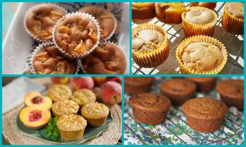So many gluten-free peach dessert recipes, including these delicious gluten-free peach muffins.