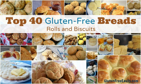 The Top 40 Best Gluten-Free Biscuit Recipes and the Best Gluten-Free Roll Recipes. When you want a bread on the table, but don't have lots of time.  [featured on Gluten Free Easily.com] (photo)