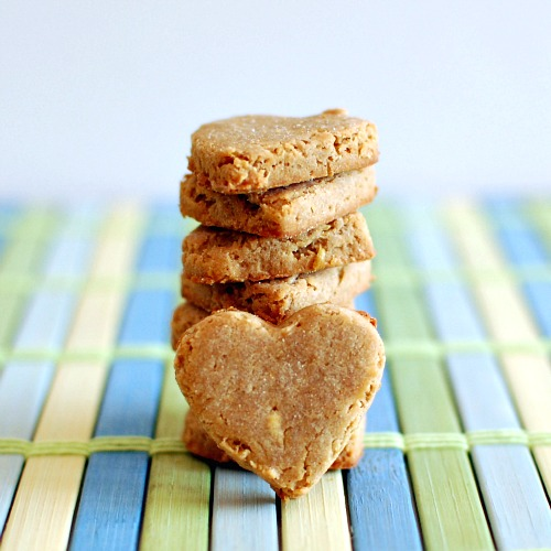 Gluten-Free Apple Peanut Butter Dog Biscuits from Spabettie