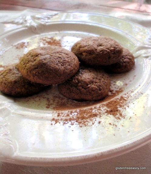 gluten-free chocolate cookies, gluten-free flourless cookies, flourless chocolate cookies, cookies, dessert, recipe, paleo, primal, dairy free, refined sugar free, vegetarian