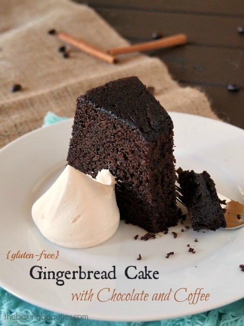 Gingerbread Cake with Chocolate and Coffee from Faithfully Gluten Free [featured on AllGlutenFreeDesserts.com]