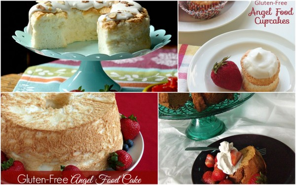 Gluten-Free Angel Food Cakes for everyone! Classic, chocolate, gluten free, grain free, cupcakes ... this roundup has them all! [featured on GlutenFreeEasily.com] (photo)