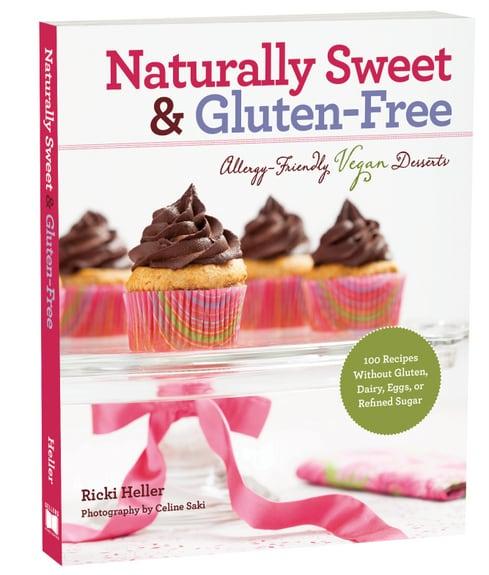 Naturally Sweet & Gluten-Free Cookbook, Ricki Heller, gluten-free dessert cookbook, gluten-free recipes, dairy-free recipes, egg-free recipes, vegan recipes, gluten-free vegan cookbook, Diet Dessert and Dogs